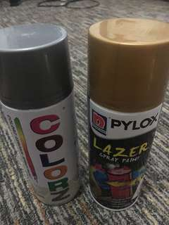 Silver and Gold Spray Paints