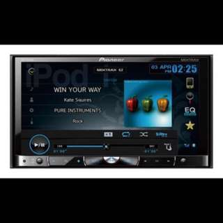Pioneer AVH-P8450BT  Car AV 4 Channel Bluetooth Receiver with Detachable Double Din Faceplate. DVD / CD / VCD / USB / Ipod / IPhone / SD /WMA / AAC / Divx playback capabilities. New Mixtrax (Auto Dj) functionality. Car Radio And Audio System