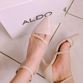 ALDO 專櫃正品 全新 米色 高跟鞋 尖頭鞋