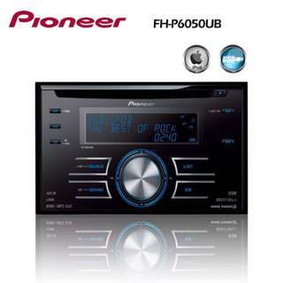 Pioneer FH-P6050UB double din with USB. With installation