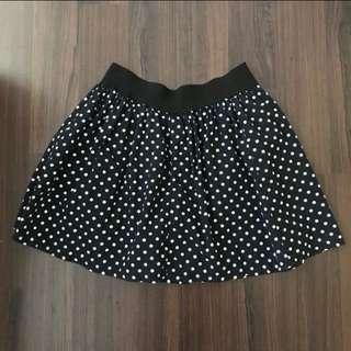 [Clearance] Polka Dot Skirt Blue