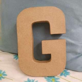 Letter G 3D Craft