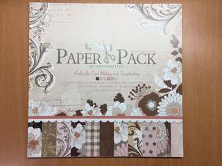 "12"" by 12"" Floral Design Scrapbooking Paper by Enogreeting"