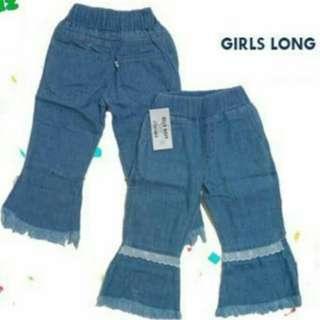 Girls Long Jeans