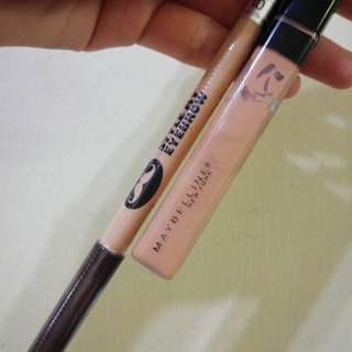 The Face Shop Style My Eyebrow + Maybelline Fit Me Concealer