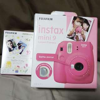 Brand New Unopened Fujifilm Instax Mini 9 Camera In Pink Comes With A Box Of 10 Film