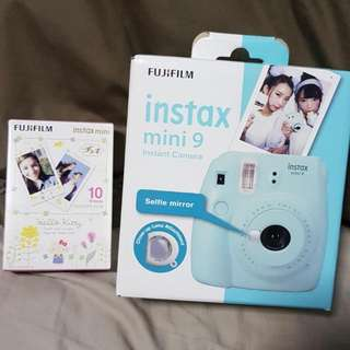 Brand New Unopened Fujifilm Instax Mini 9 Camera In Blue Comes With A Box Of 10 Film Free