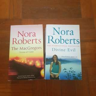 Nora Roberts Book and Fern Michaels