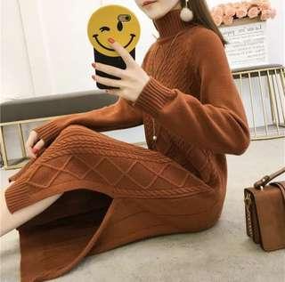 Brand new long dress turtleneck knitwear for autumn winter
