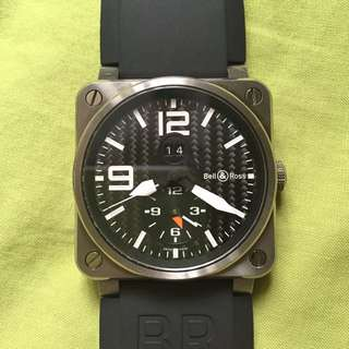 伯莱士 (Bell & Ross) Bell & Ross BR03 51 Insturment GMT - Titanium Case with Carb