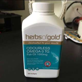 [Half price] Herbs of Gold Fish Oil Odourless