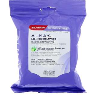 ✨PO✨ Almay, Gentle Oil Free Makeup Remover Cleansing Towelettes, 25 Ultra Soft-Wipes