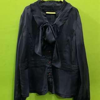 blouse bahan satin