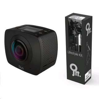 Jolt 360 Duo Action Camera + lifestyle kit + outdoor kit SRP RM1299