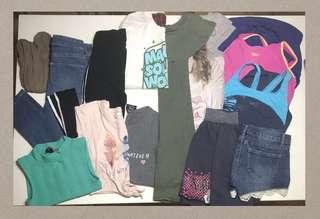 Bundle clearance - skinny jeans crop tops