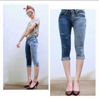 7/8 DOUBLE TONE JEANS