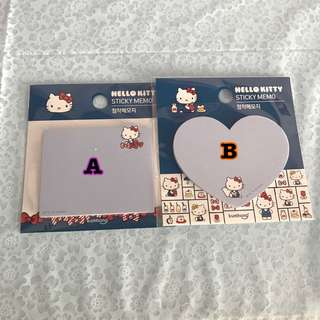 Last PCs Each Hello Kitty Blue Post It Pad