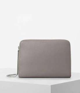Brand new in box - grey Allsaints large clutch bag