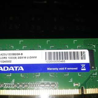 ADATA DDR 3 1333Mhz RAM