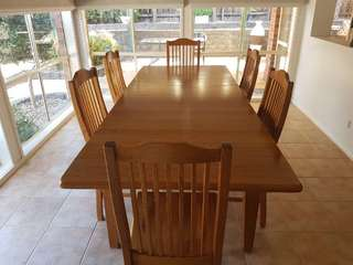 Victorian Ash Dining Table and Chairs