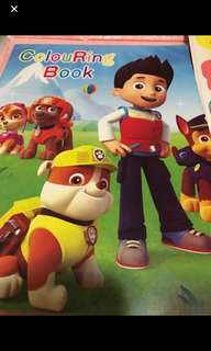 Instock A4 paw Patrol Coloring And Stickers Book Brand New
