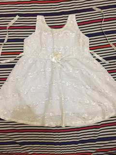 White baby dress (used during baptism)