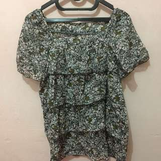Flower Layered Blouse