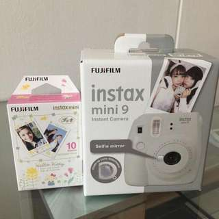 Brand New Unopened Fuijfilm Instax Mini 9 Camera In White, Comes With A Box Of 10 Pieces Of Film