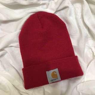 Carhartt紅色毛帽