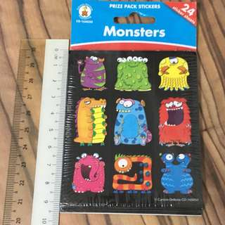 Monster Stickers (24pc/pk)