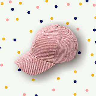 Pink Corduroy Cap (Oxygen)