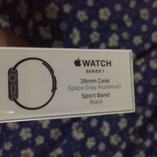 Apple watch series 1 space grey 38mm black sport band