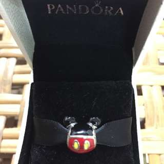 BNIS Pandora Disney Sterling silver Mickey icon charm with black, red and yellow enamel(only uk)