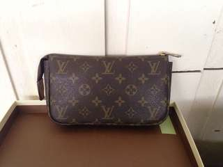 Louis Vuitton pouch makeup kit essential kit kikay