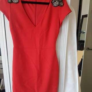 Zara trf red dress xs
