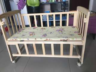 Baby Cot with free bumper cot