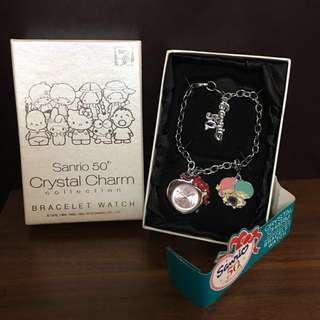 🚚 Sanrio 50th Crystal Charm Collection BRACELET WATCH 限量手鏈錶(現貨售完為止)
