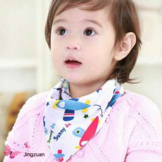 Baby Bib/Baby Bibdana 2 Sided Designs Triangle Cotton towel