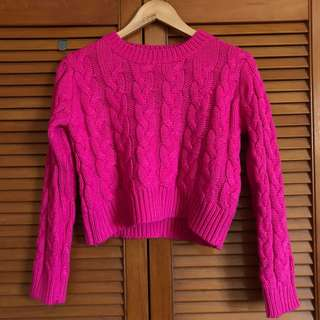 PINK WINTER WOOL PULLOVER