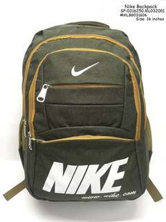 Nike backpack size : 16 inches