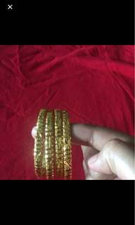 Gold plated bangles...size 2.5inches