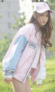 Pink blue white original jacket