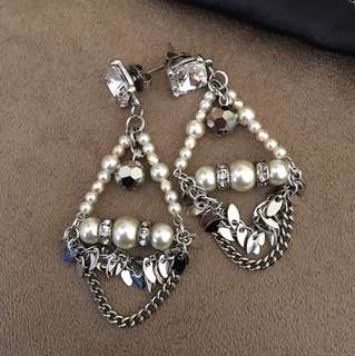 Brand new Mimco pearl chandelier earrings