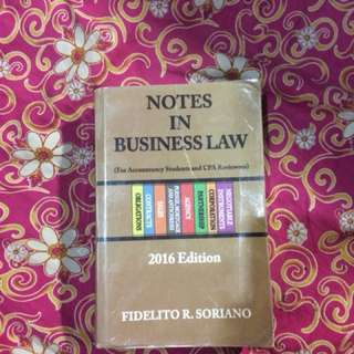 Notes in Business Law 2016