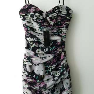 BCBG Ruffled Mini Dress (Size XS)