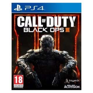 (Brand New Sealed) PS4 Game Call of Duty Black Ops 3.