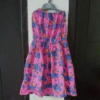 Mini Dress Kemben Bunga-bunga