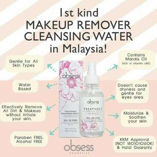 Obsess treatment cleansing water