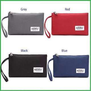 Canvas clutch coin purse wristlet bag wallet pouch
