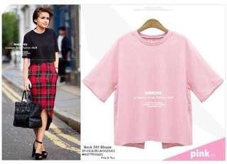Back slit blouse fits S-L
